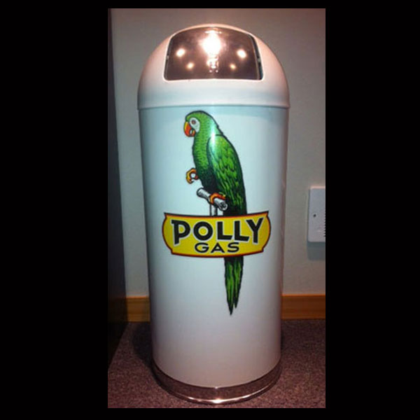 Polly Gas Retro Style Trash Can