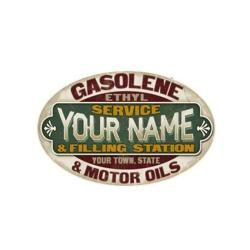 Service and Filling Station Personalized Sign