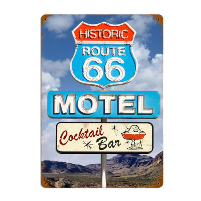 Route 66 Motel Cocktail & Bar Sign