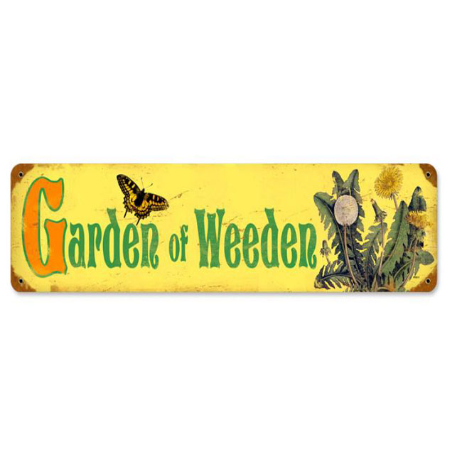 Garden of Weeden Sign