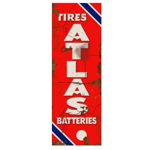 Atlas Battery Vintage Sign