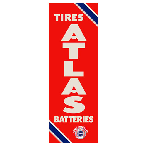 Atlas Battery Sign