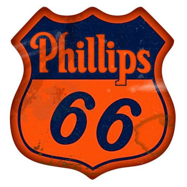 Vintage Phillips 66 Gasoline Sign