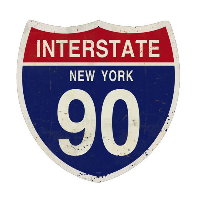 New York Interstate 90 Highway Shield Sign