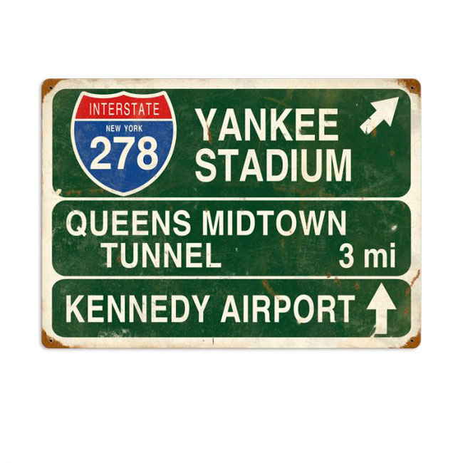 Interstate 278 Yankee Stadium Highway Sign
