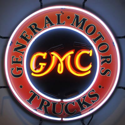 GMC Trucks Neon Garage Sign