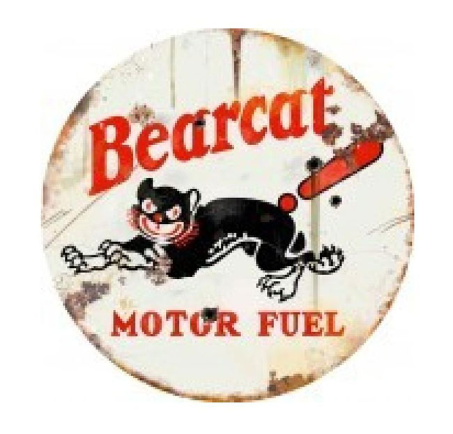 Bearcat Motor Fuel Large 42 Inch Sign