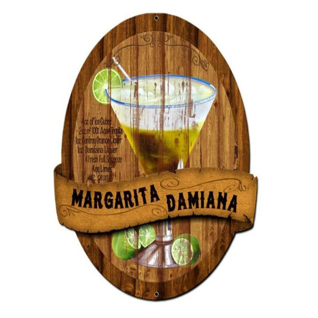 Margarita Damiana Recipe Drinking Sign