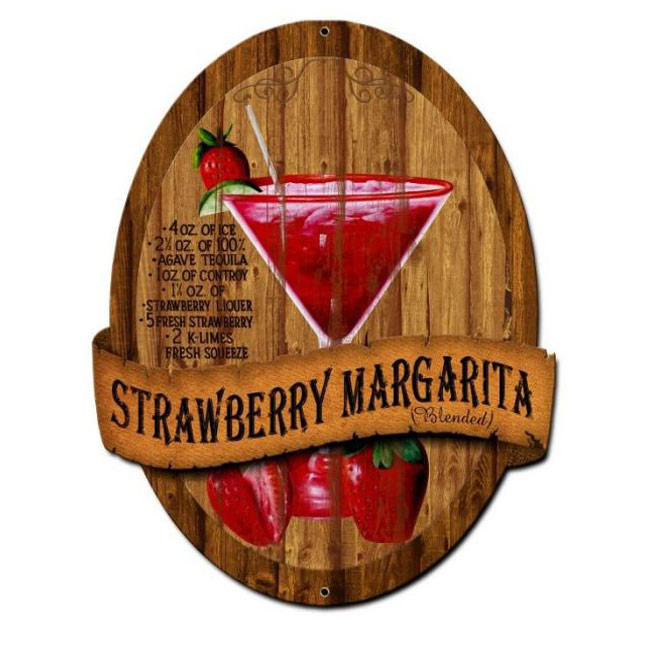 Strawberry Margarita Recipe Sign