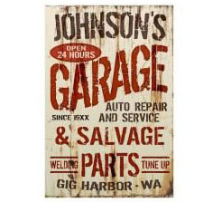 Personalized Garage Auto Repair Corrugated Sign