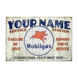 Mobil Gas Service Station Personalized Sign