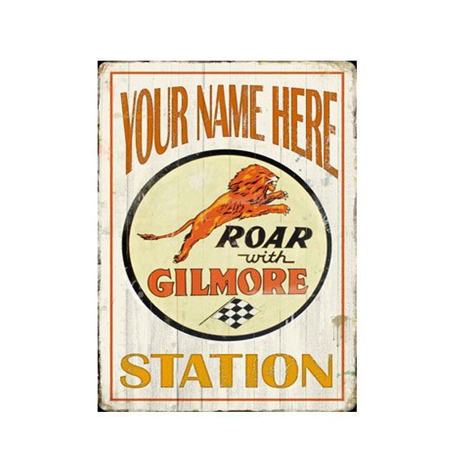 Gilmore Gasoline Personalized Station Sign