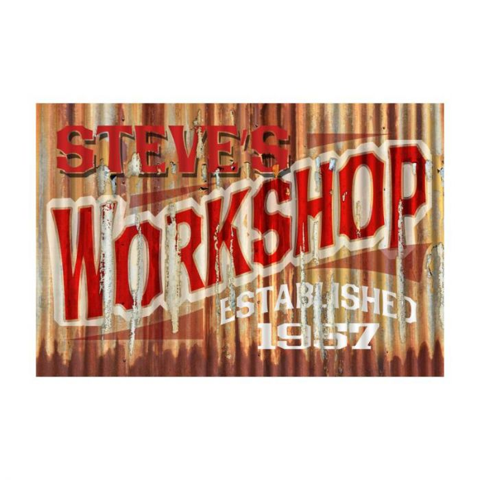 Rustic Workshop Personalized Garage Sign