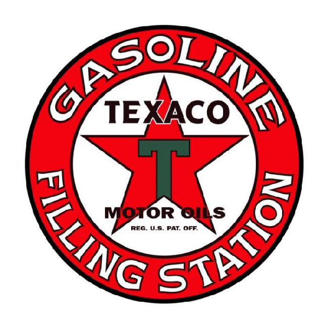 Texaco Filling Station Sign