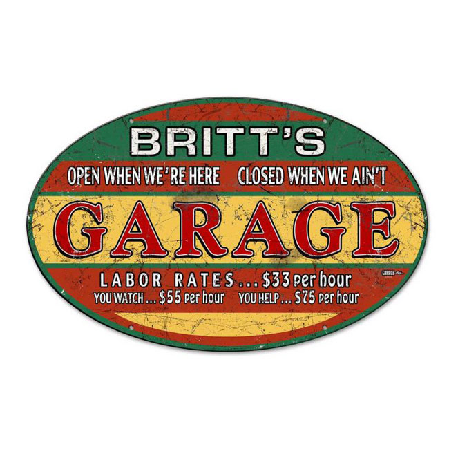 Garage Personalized Sign