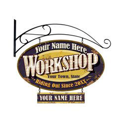 Hanging Workshop Personalized Sign