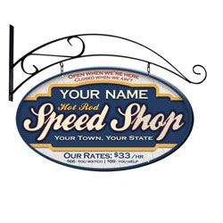 Hot Rod Speed Shop Personalized Sign