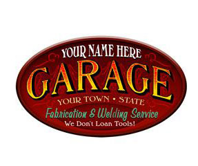 Garage Services Personalized Sign