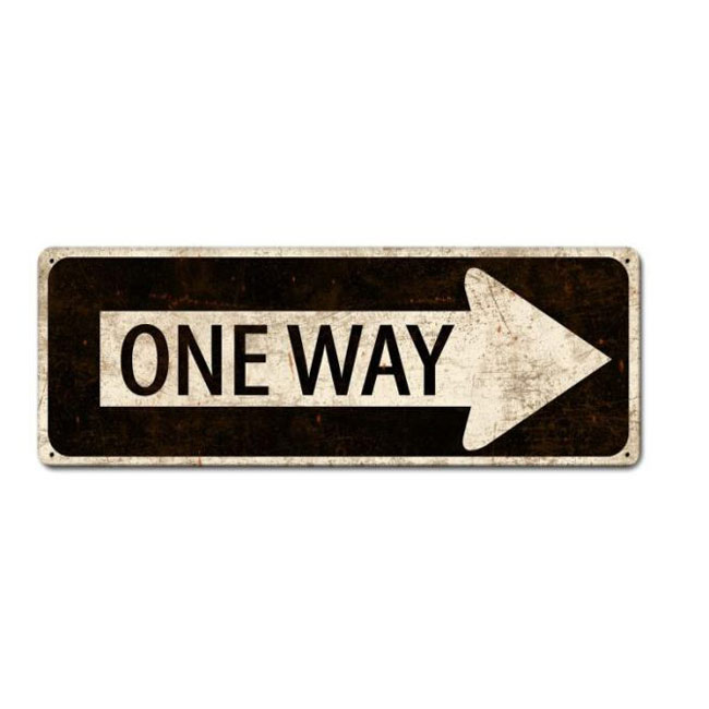 One Way Highway Sign