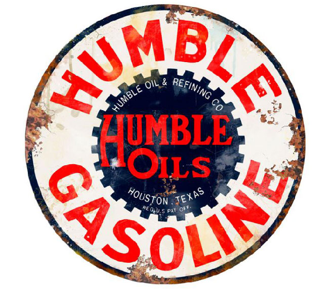 Humble Gasoline Vintage Style Sign