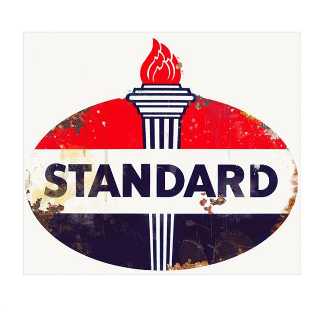 Standard Vintage Style Diecut Sign