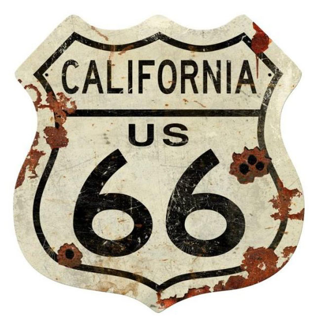 California Route 66 Shield Sign