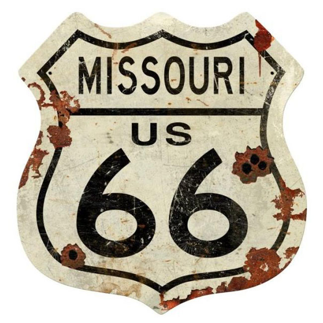 Missouri Route 66 Shield Sign