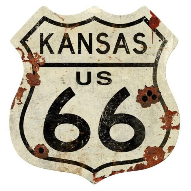 Kansas Route 66 Shield Sign