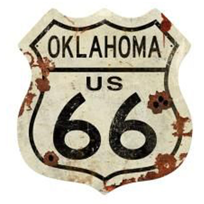 Oklahoma Route 66 Shield Sign