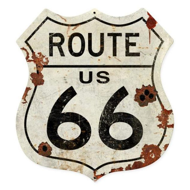 Route 66 Shield Sign - 28 Inch