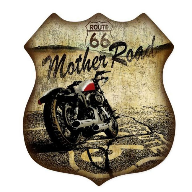 Route 66 Mother Road Shield Sign