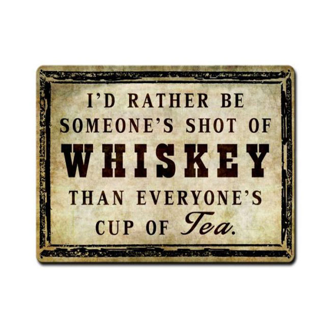 Shot Of Whiskey Sign