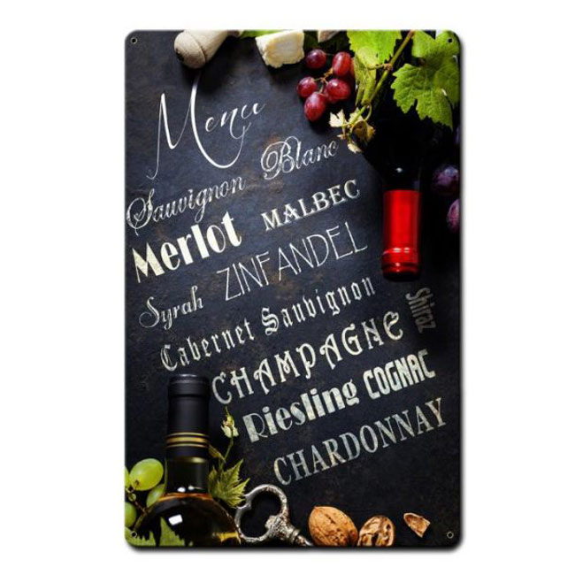 Wine Menu Sign
