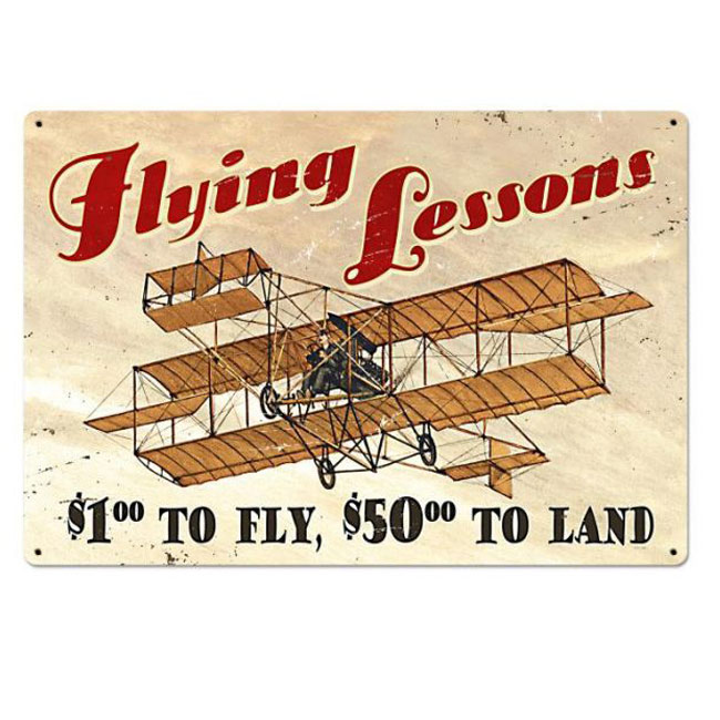 Large Flying Lessons Aviation Sign