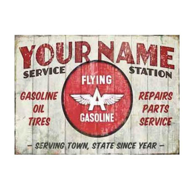 Flying A Service Station Personalized Sign