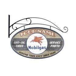 Personalized Mobil Gas Double Sided Sign