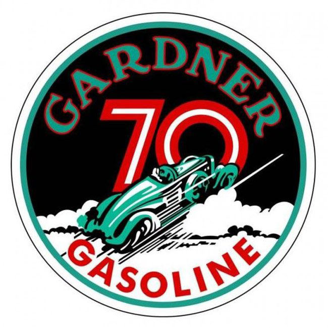 Gardner Gasoline Satin Style Sign