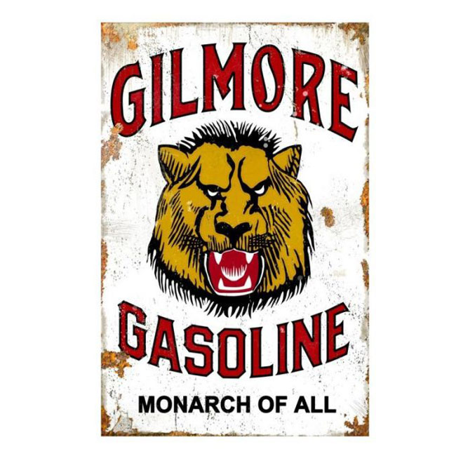 Gilmore Gasoline Vintage Monarch Sign