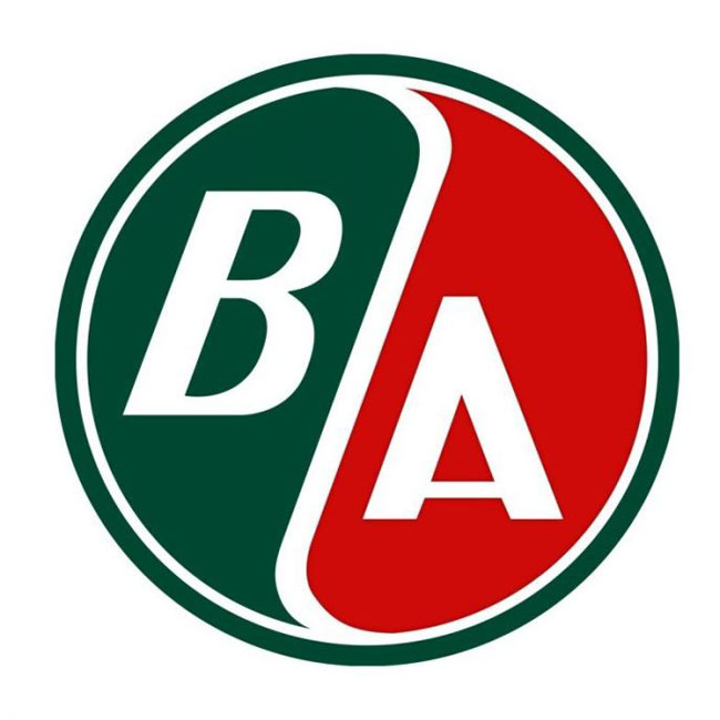 BA Gasoline Satin Style Sign