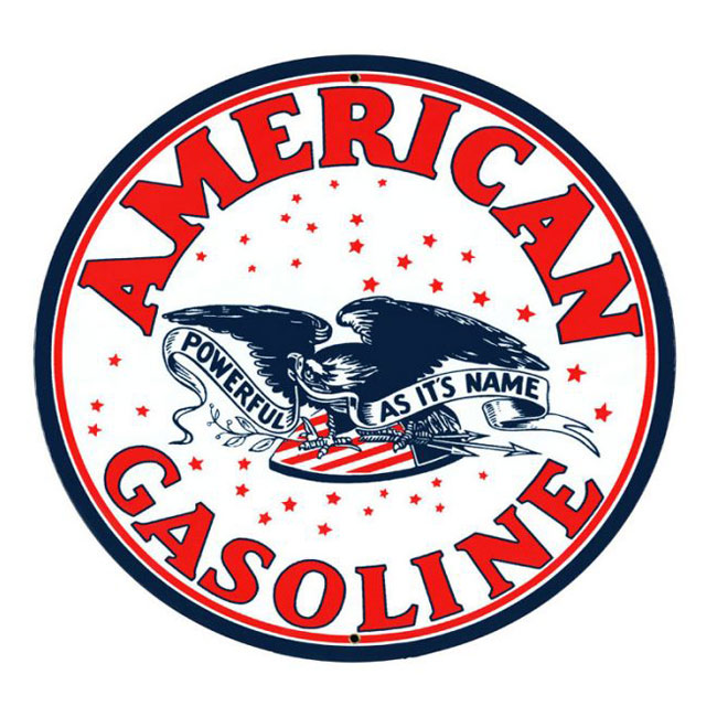 American Gasoline Satin Style Sign