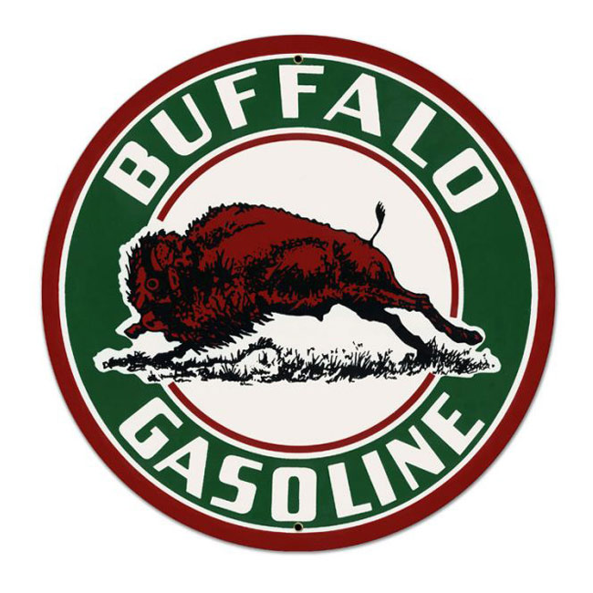 Buffalo Gasoline Satin Style Sign