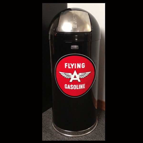 Black Retro Trash Can - Flying A