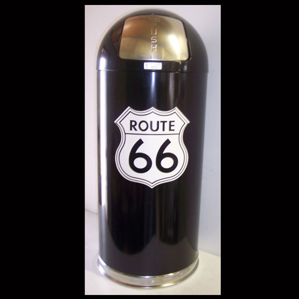 Route 66 Retro Style Trash Can