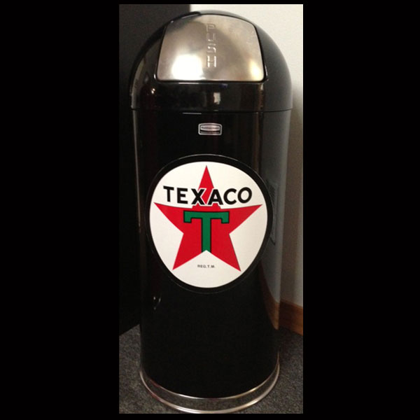 Black Retro Trash Can - Texaco