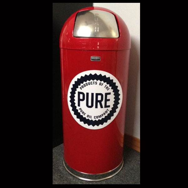 Pure Oil Retro Style Trash Can