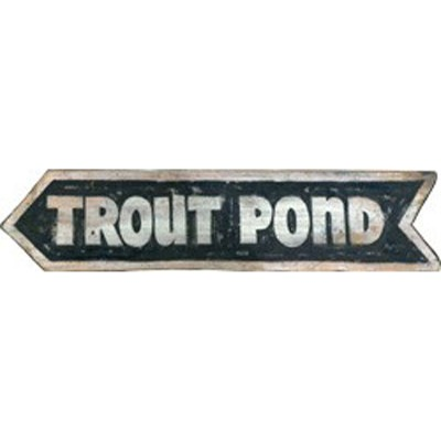 Trout Pond Arrow Wood Sign