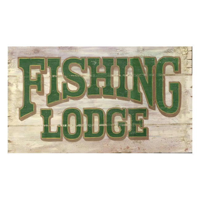 Fishing Lodge Wooden Sign