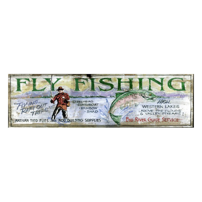 Big River Fly Fishing Wooden Sign