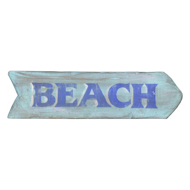 Beach Vintage Wood Sign