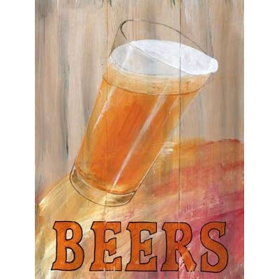 Beer Glass Wooden Sign